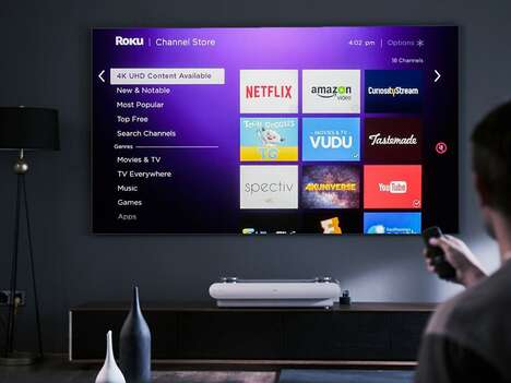 Stylish All-in-One Laser TVs