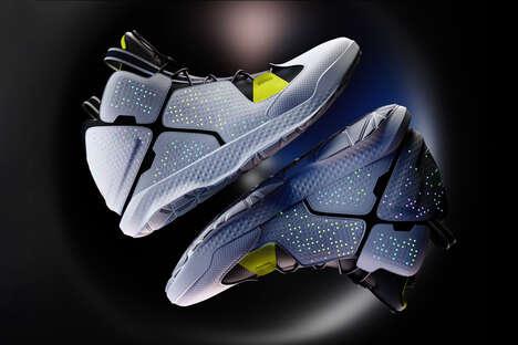 Textural Glow-in-the-Dark Sneakers