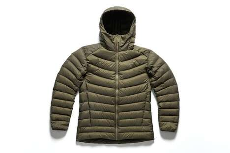 Down-Insulated Winter Hoodies