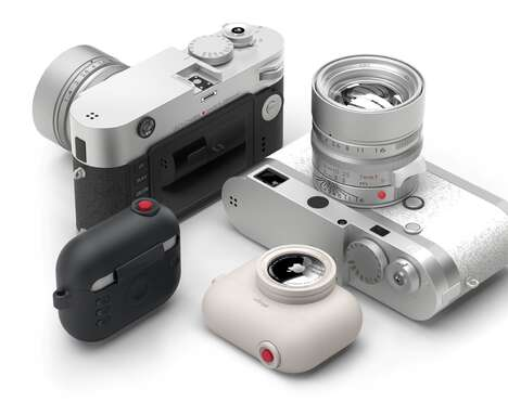 Camera-Inspired Earbud Tracker Cases