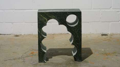 Sculptural Gravestone Side Tables