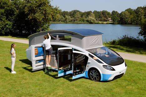 Pop-Up Solar-Powered Campers