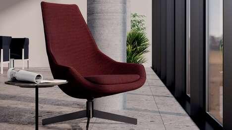 Luxurious High-Back Swivel Chairs
