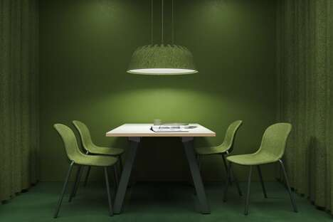 Recycled Sound-Absorbing Lamps