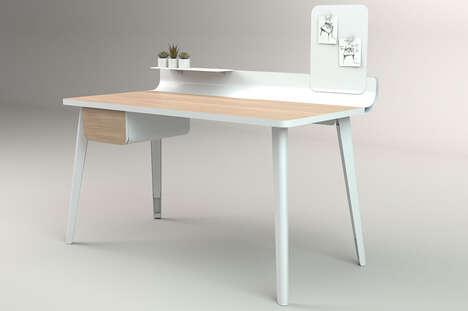 Invitingly Organized Minimalist Desks