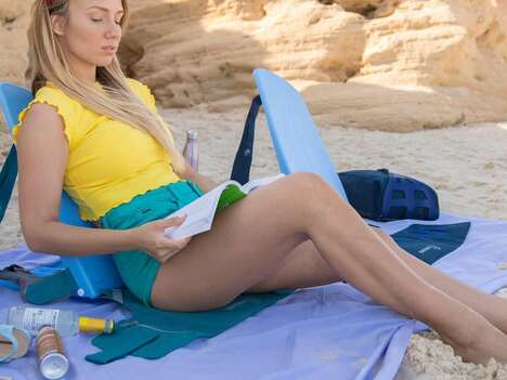 Chair-Equipped Beach Backpacks