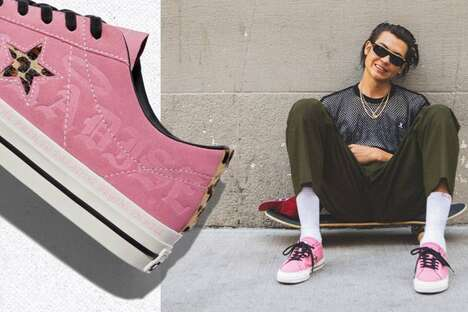 Graffiti-Inspired Debossed Sneakers