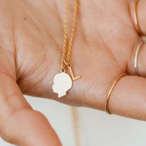 Minimalist Kids Silhouette Necklaces