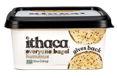 Bagel-Flavored Hummus Spreads