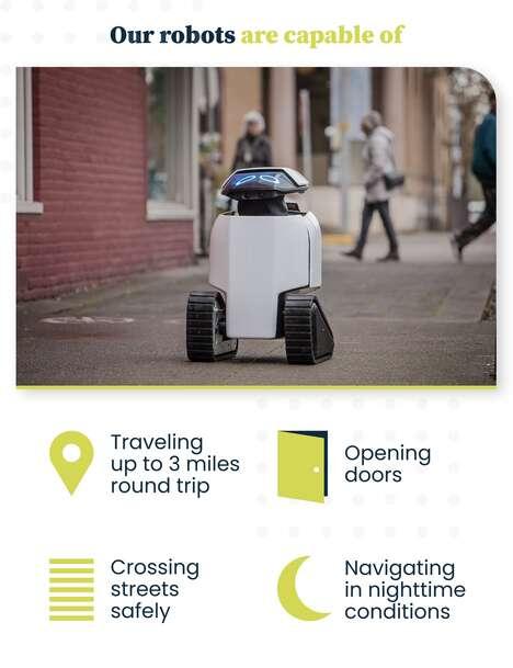 Emotive Short-Range Delivery Robots