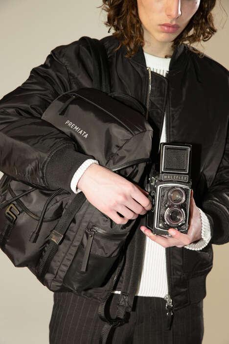 Luxury Nylon Gabardine Backpacks