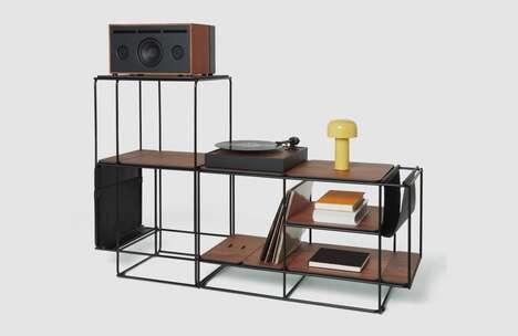 Minimal Vinyl-Focused Cabinets