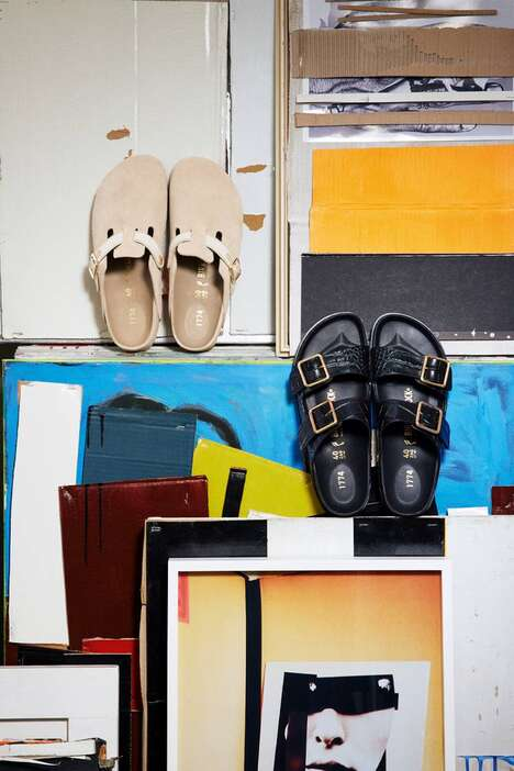 Debossed Print Contemporary Sandals