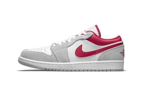 Red Logo Tonal Sneakers