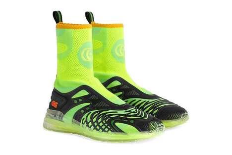 Neon Luxe Mid-Top Footwear