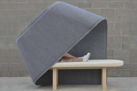 Semi-Enclosed Private Lounge Chairs