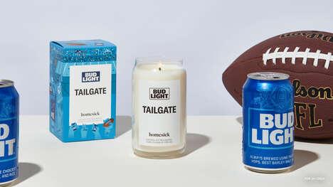Customizable Football Candles
