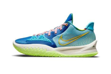 Vibrant Supportive Basketball Sneakers