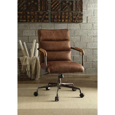 Distressed Leather Executive Chairs