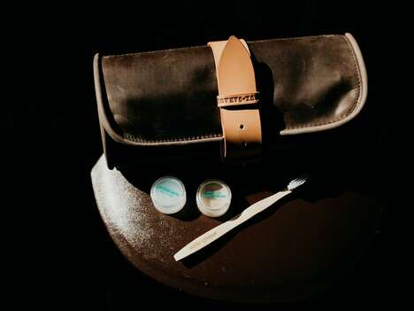 Rolling Barber-Style Toiletry Bags