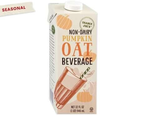 Pumpkin-Flavored Oat Milks