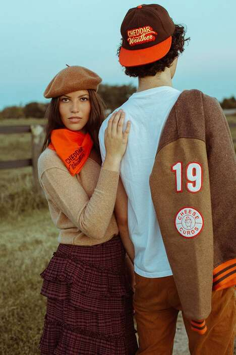 Cheese-Themed QSR Fashion Lines