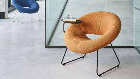 Plush Rounded Armchairs