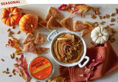 Pumpkin Spiced Hummus Dips