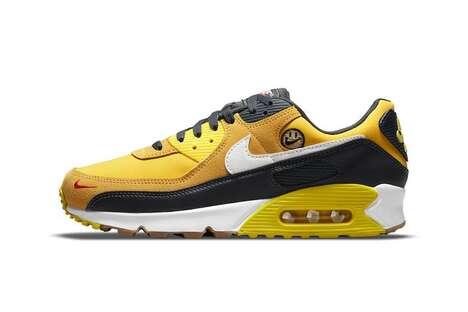Optimistically Designed Golden Sneakers