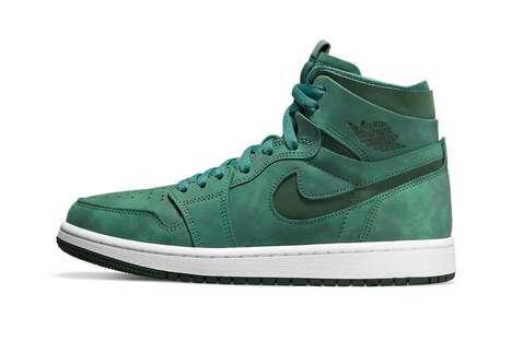 All-Green Hi-Top Sneakers