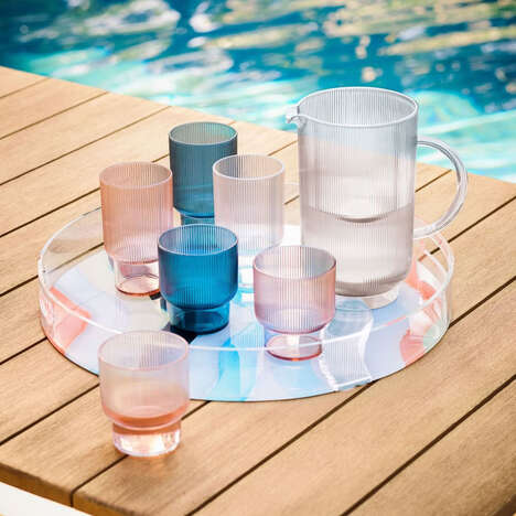 Fluted Acrylic Glassware