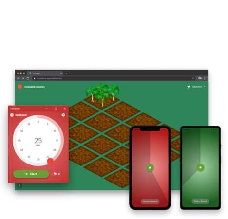 Gardening-Themed Productivity Trackers