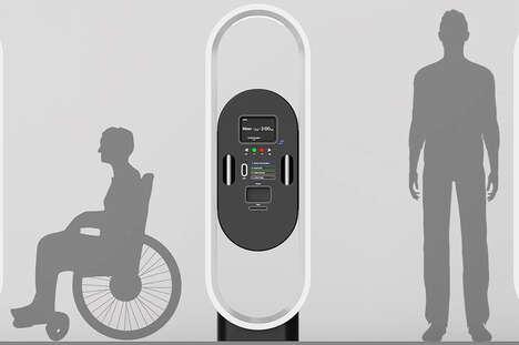 Height-Adjustable Ticket Machines