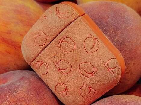 Peach-Inspired Earphone Cases