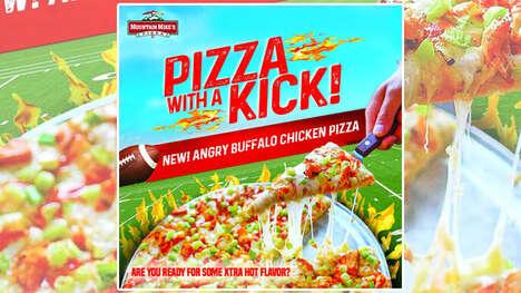 Extra-Hot Football-Themed Pizzas