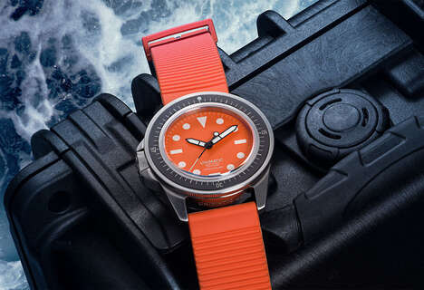 Limited-Edition Orange Diving Watches