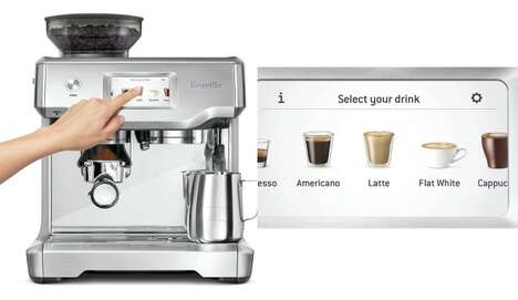Touchscreen Display Coffee Makers