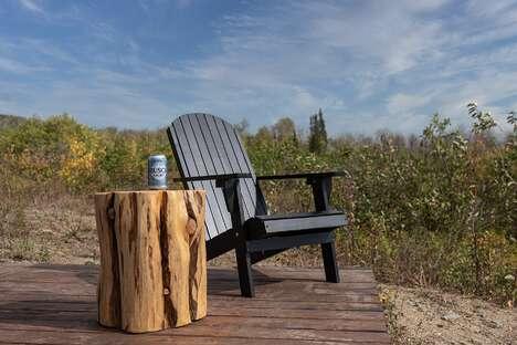 Beer-Branded Outdoor Workspaces