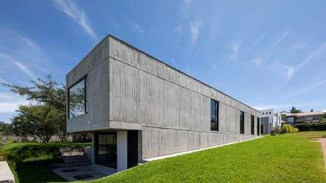Eucalyptus-Imprinted Concrete Homes