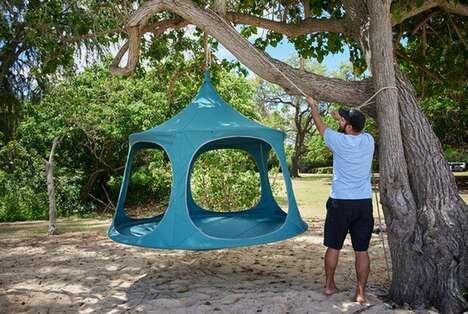 Airy Oversized Hanging Cabanas