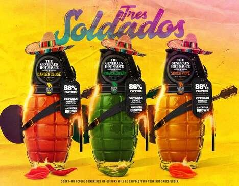 Veteran-Owned Hot Sauce Packs