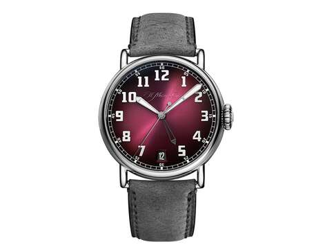 Dual Time Burgundy Watches