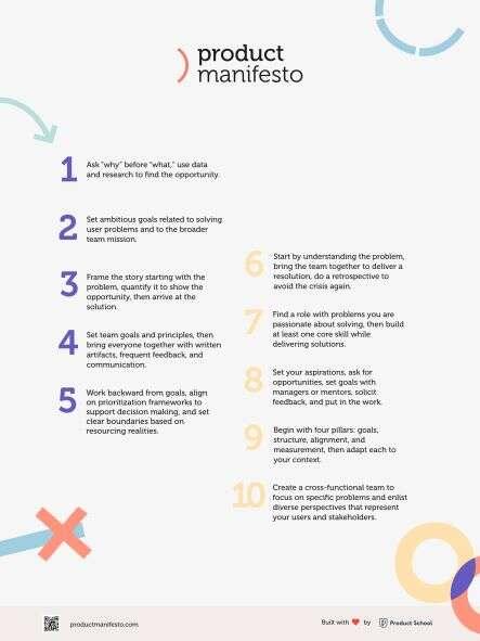 Product Manifesto Unifying Values
