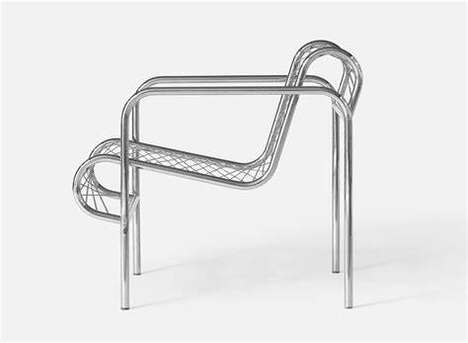 Wire-Framed Lounge Chairs