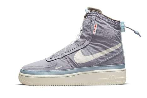 Toggled Enclosed Hi-Top Sneakers