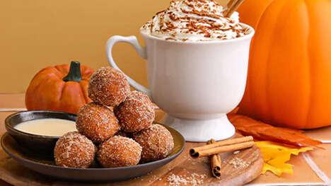 Bite-Sized Pumpkin Donuts