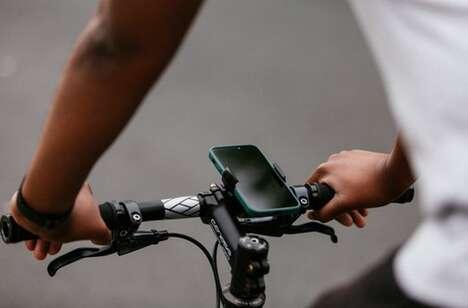 Cyclist Handlebar Smartphone Holders