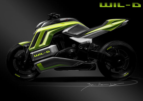 3D-Printed Nylon Carbon Motorbikes