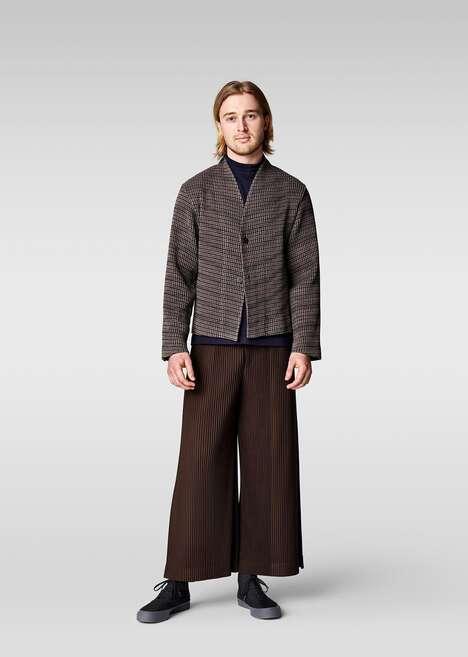 Premium Fabric Pleated Menswear