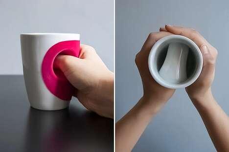 Ergonomic Hand-Warming Mugs